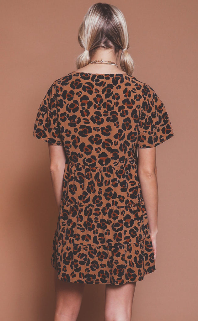 show me your mumu: valley mini dress - caramel cheetah
