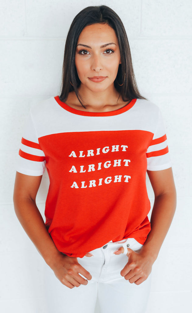 charlie southern: alright alright alright jersey t shirt