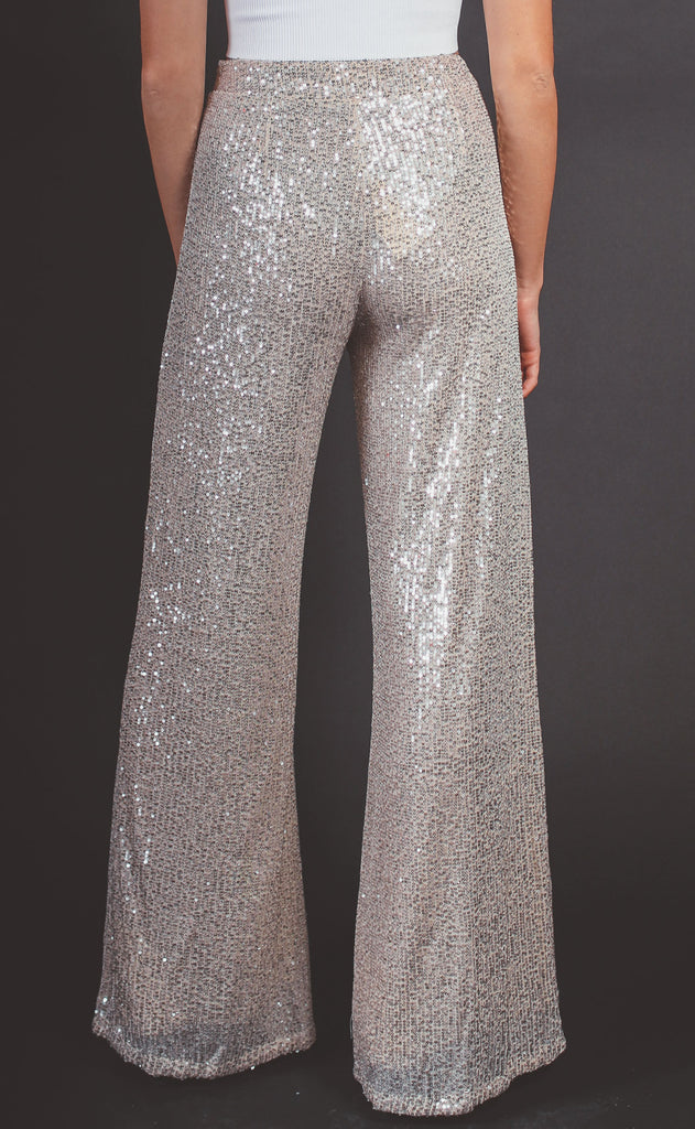 last call sequin flare pants