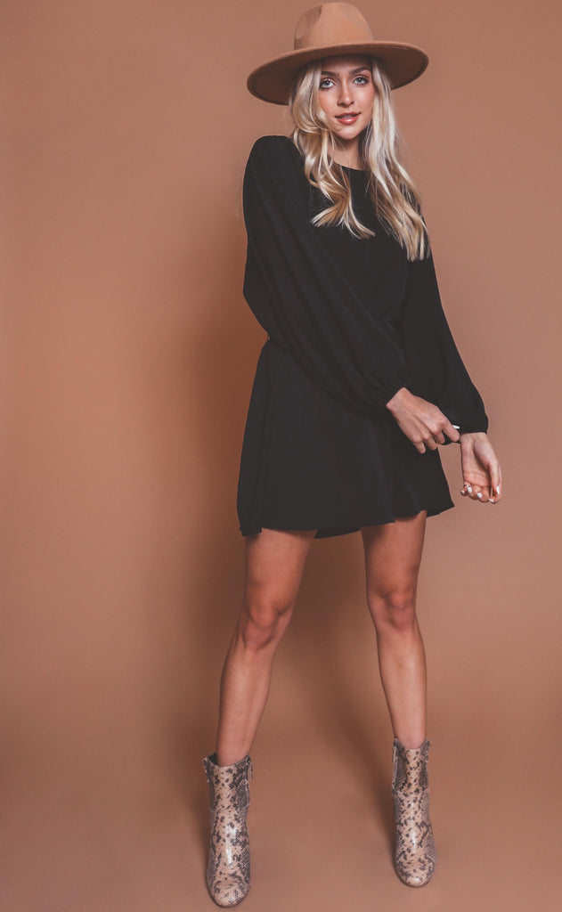 show me your mumu: larissa dress - black
