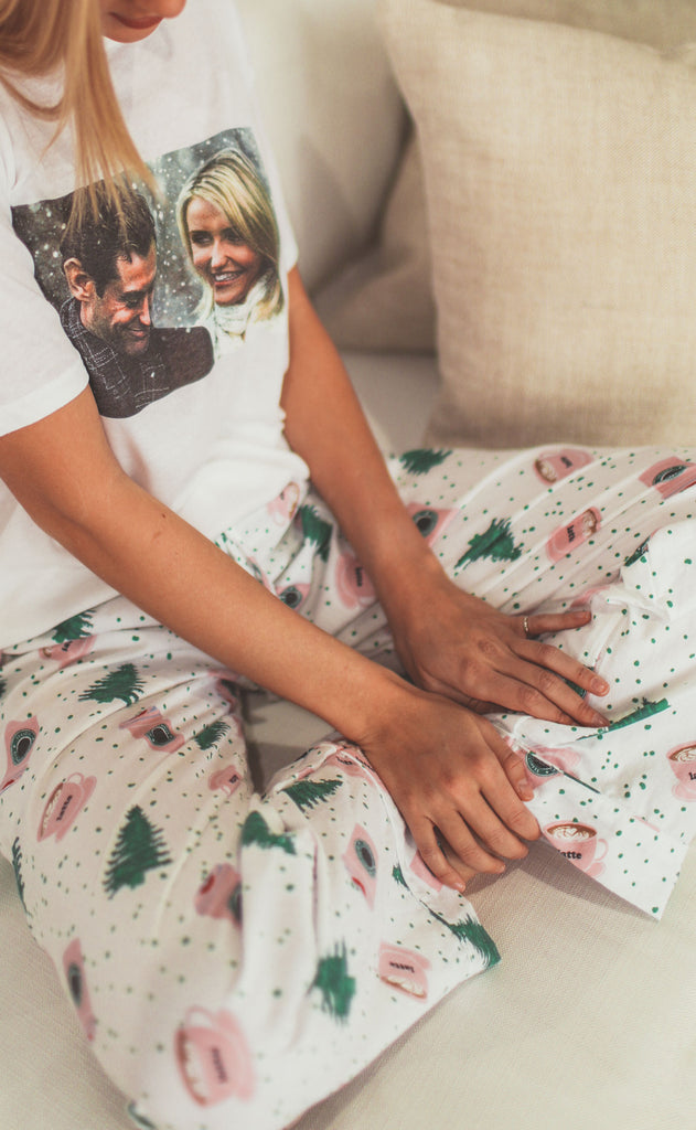 holiday coffee pajama pant