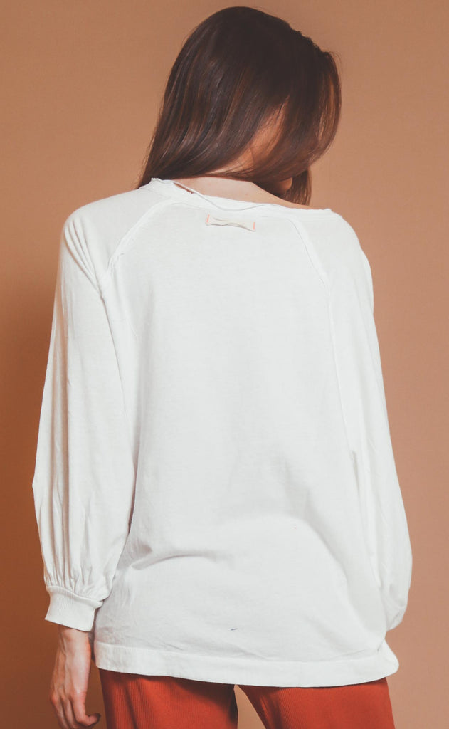 free people movement: she's everything solid long sleeve - white