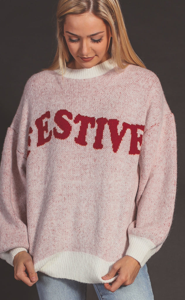 festive retro sweater