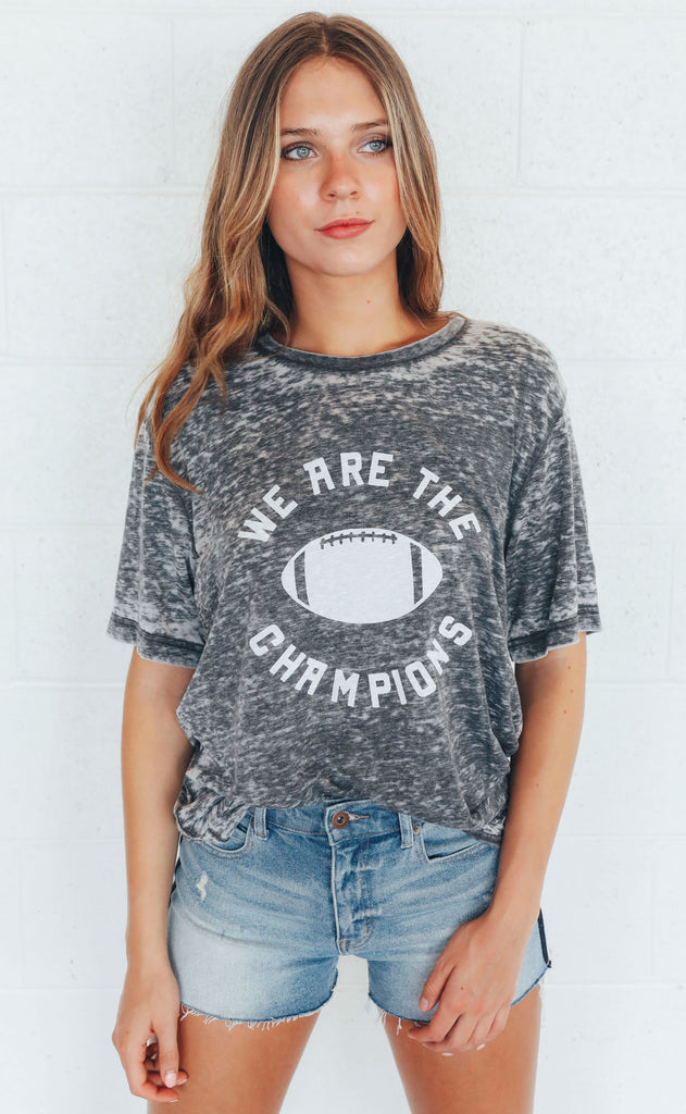 charlie southern: we are the champions t shirt