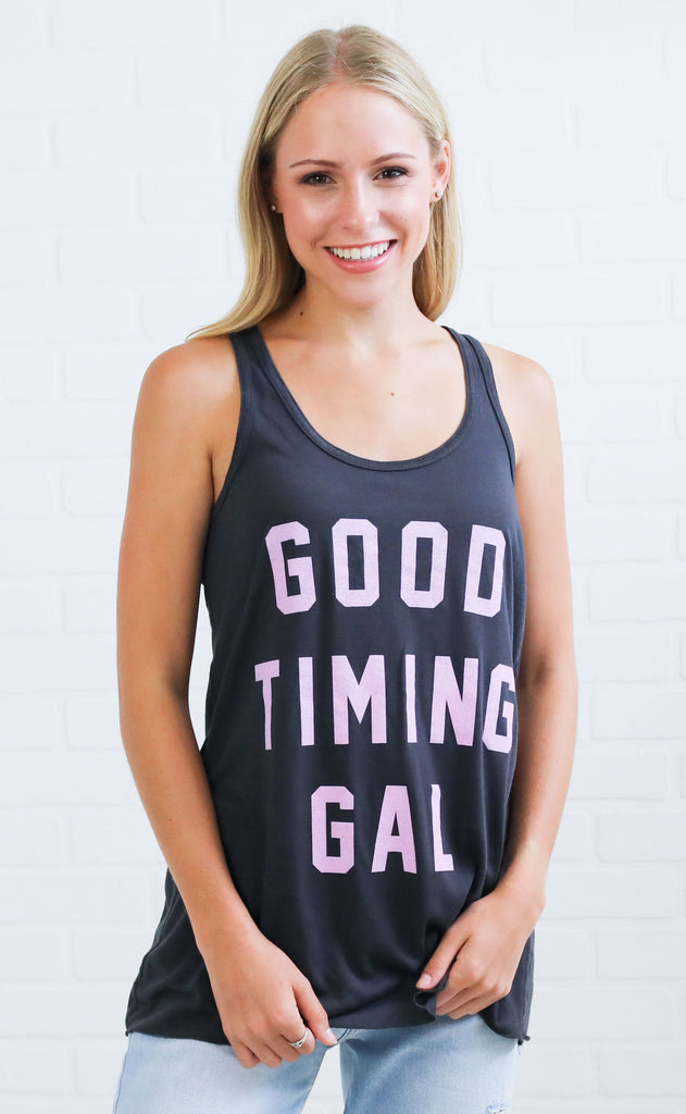 charlie southern: good timin' gal tank top