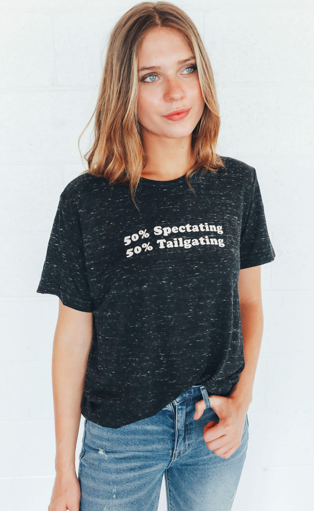 charlie southern: 50% spectating 50% tailgating t shirt