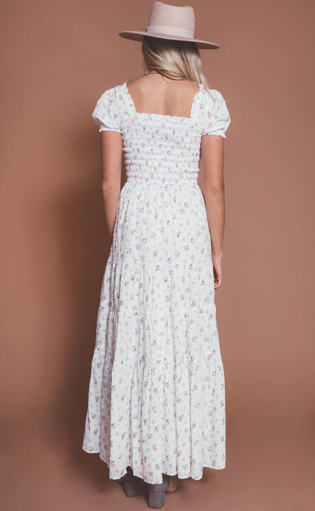summer in the hamptons floral maxi