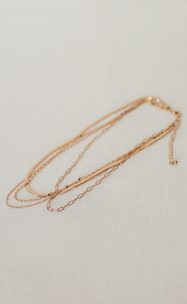 gold dipped paper clip chain necklace