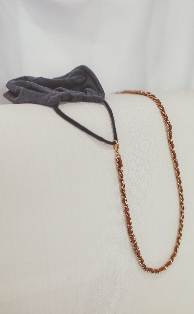 tan multi wrap mask chain