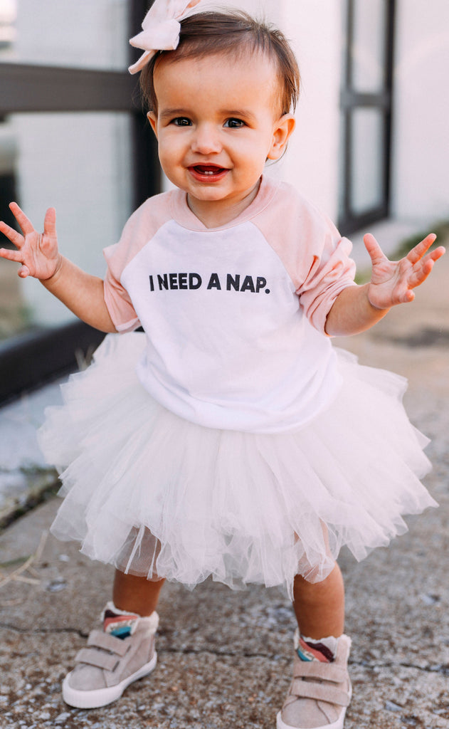 friday + saturday: i need a nap toddler raglan