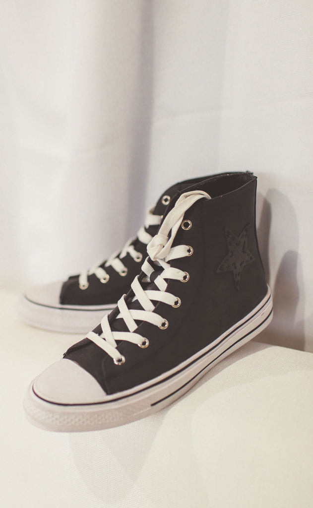 skylar high top sneakers - black