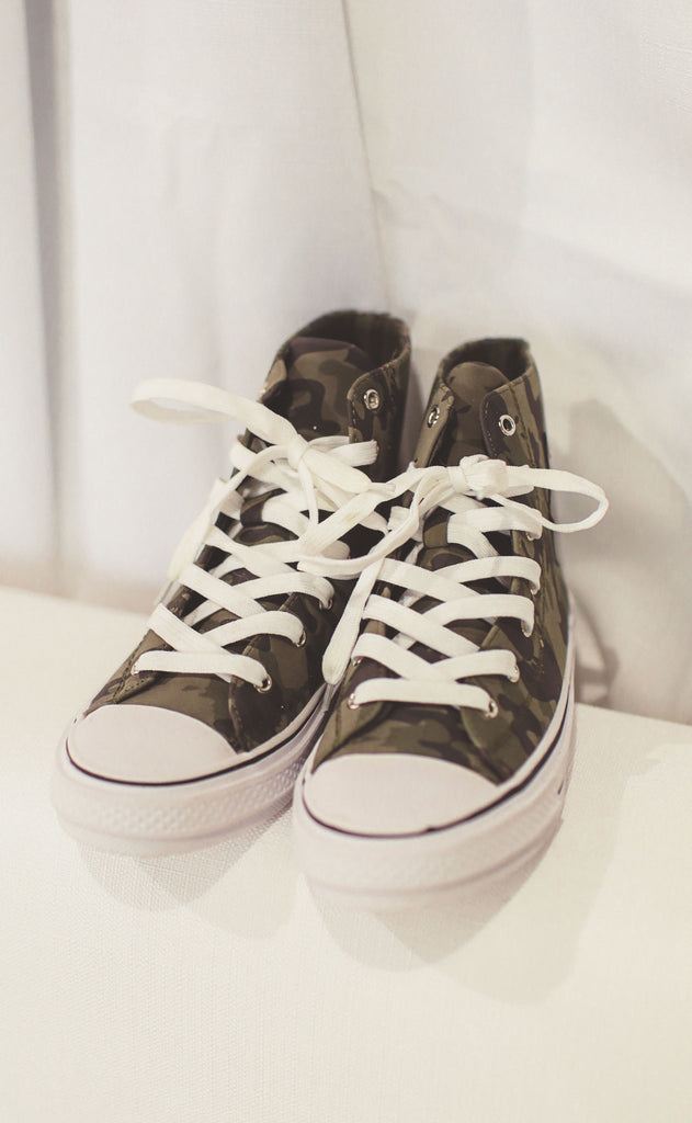 skylar high top sneakers - camo