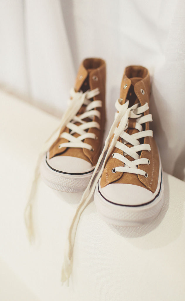 skylar high top sneakers - camel