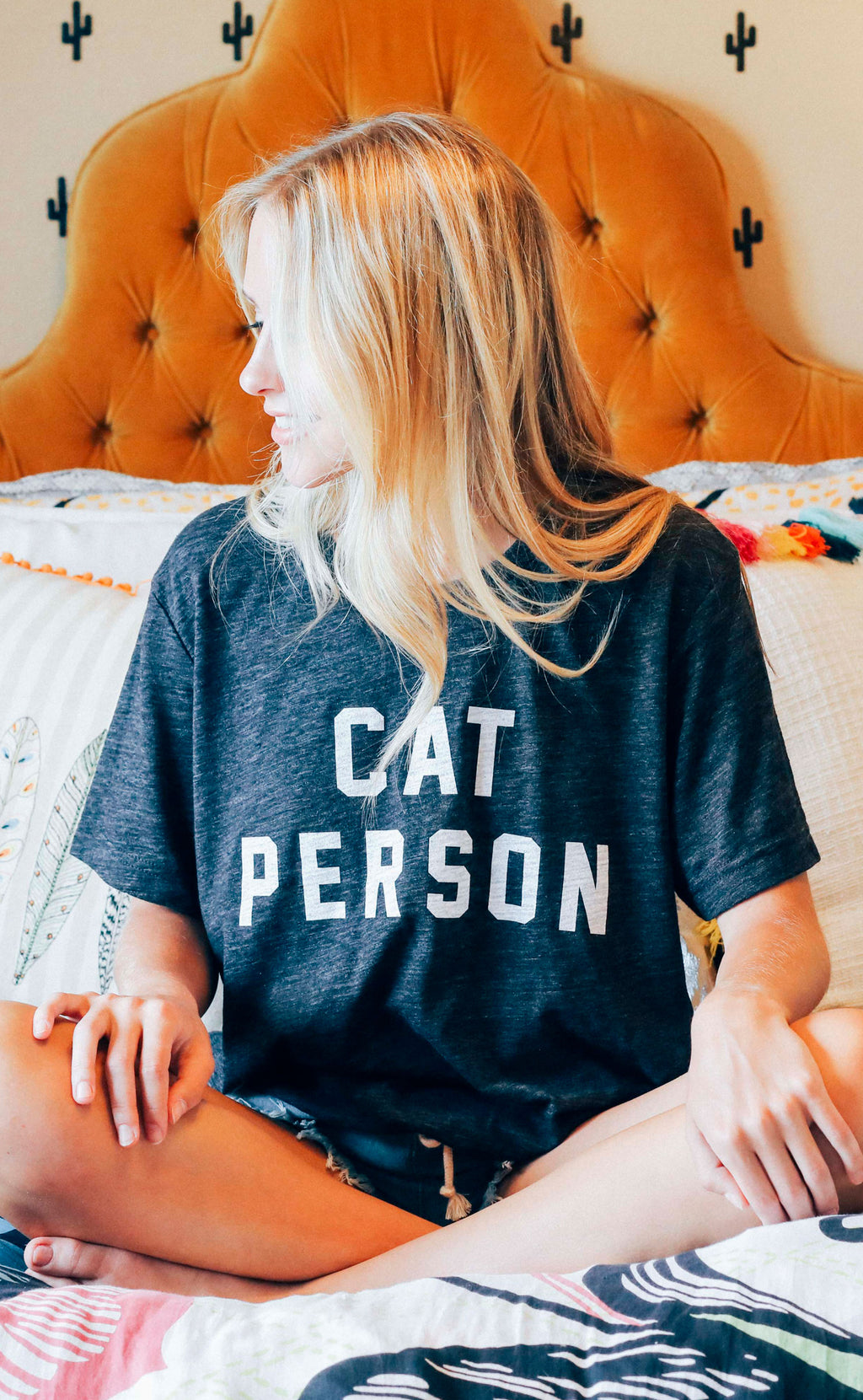 friday + saturday: cat person t shirt