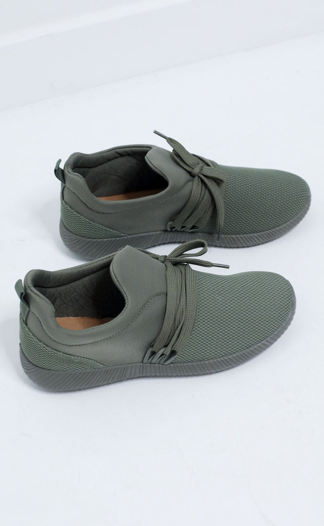 kicked up sneaker - olive