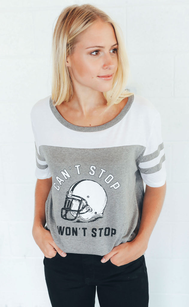 charlie southern: can't stop won't stop jersey t shirt