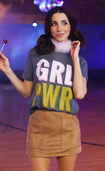 friday + saturday: grl pwr t shirt