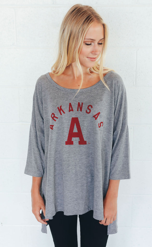 charlie southern: arch arkansas tunic t shirt