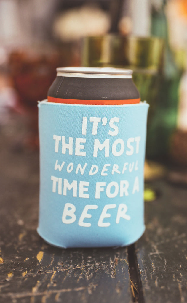 charlie southern: time for a beer drink sleeve - set of 4