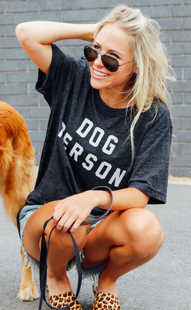 friday + saturday: dog person t shirt