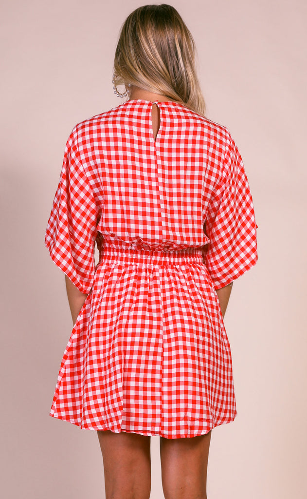 buddy love: connie dress - red