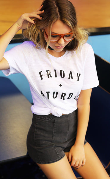 friday + saturday: logo t shirt