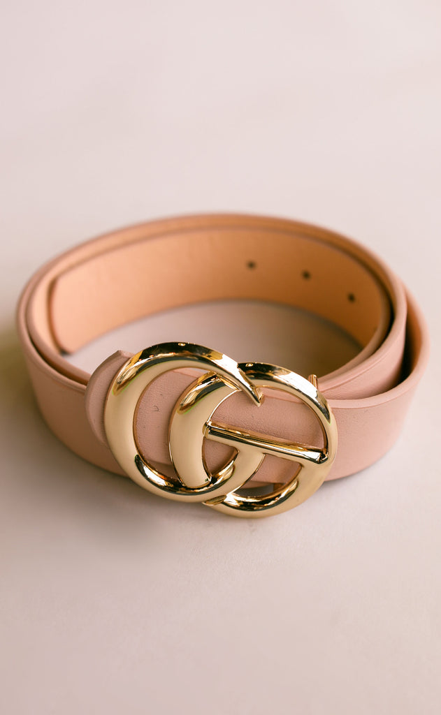 double circle belt - blush