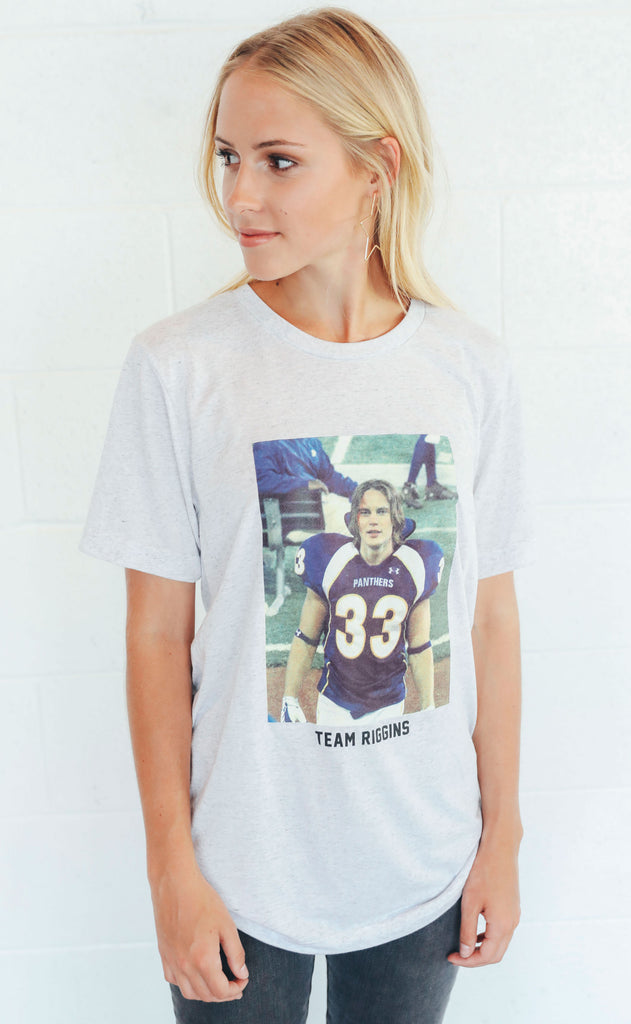 charlie southern: team riggins picture t shirt