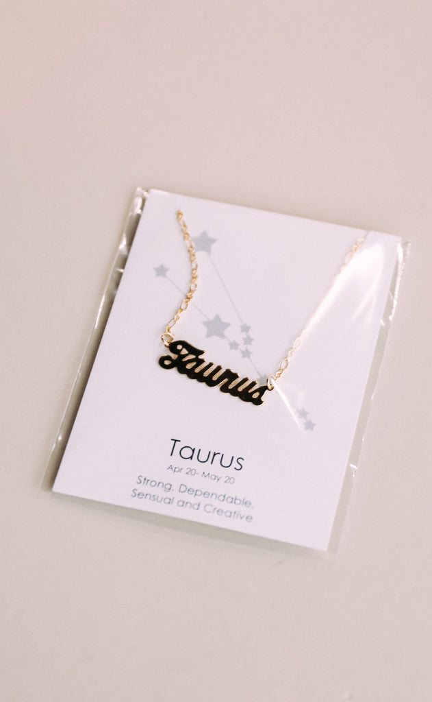 farrah b: identity horoscope necklace