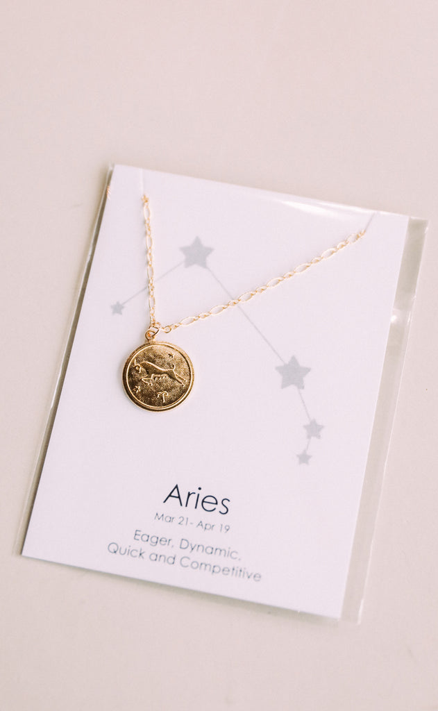 farrah b: medallion horoscope necklace