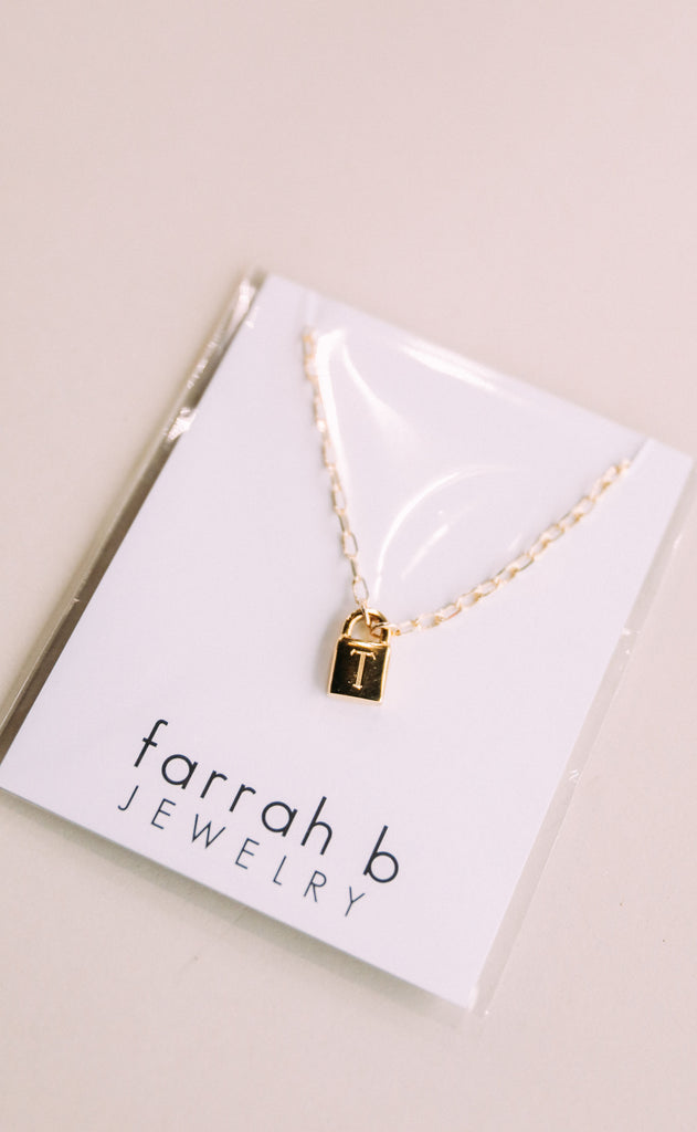 farrah b: secret identity initial necklace