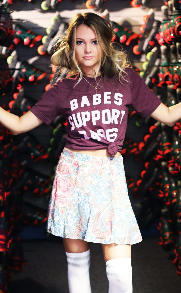 friday + saturday: babes support babes t shirt