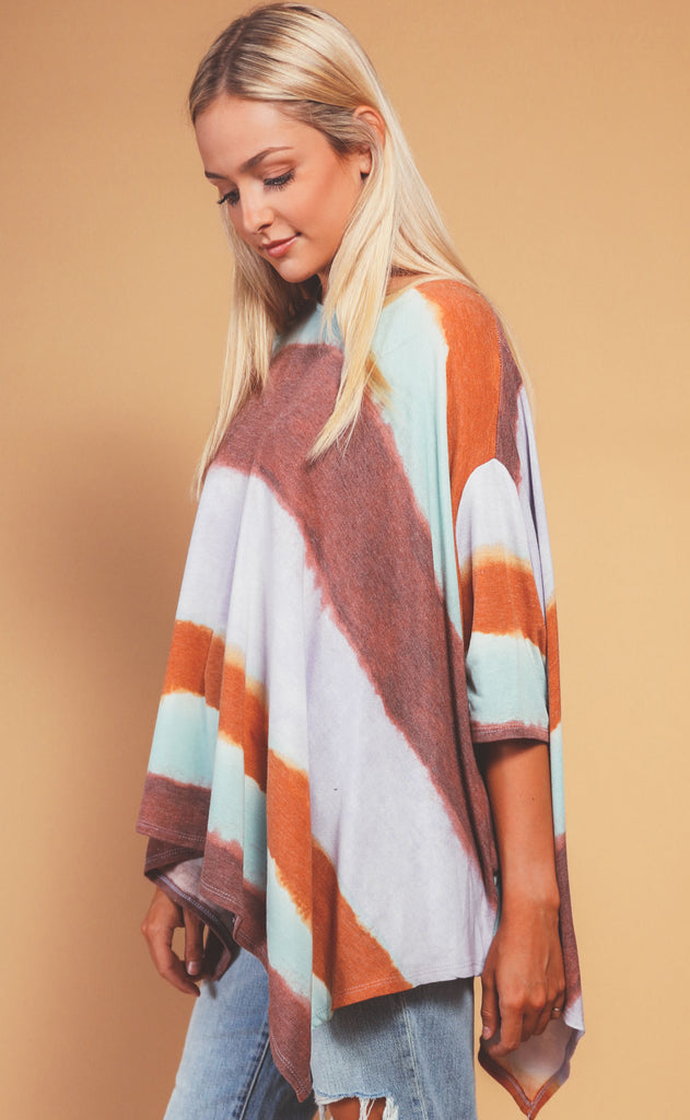 sunset oversized relaxed tee - mint