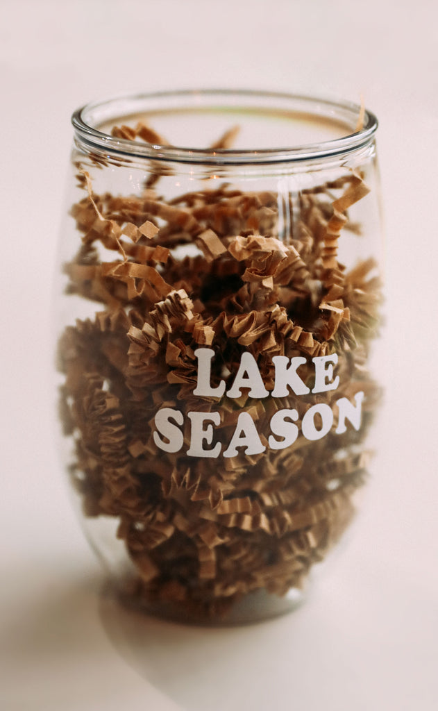charlie southern: lake wine glass