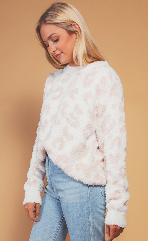 safari adventure leopard sweater