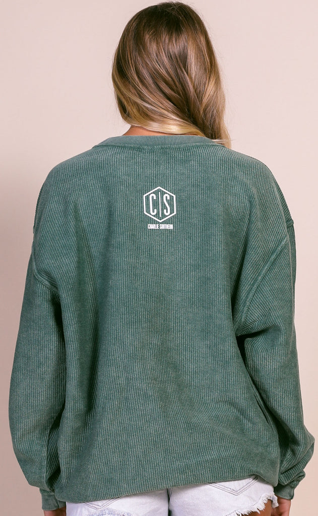 charlie southern: support local corded sweatshirt
