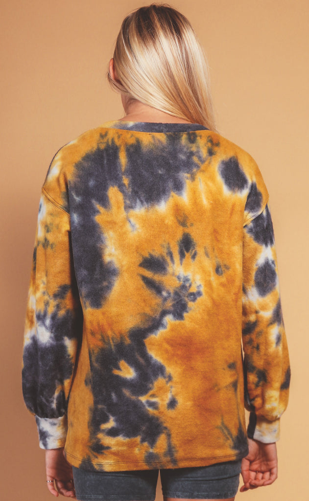 feels like fall tie dye pullover