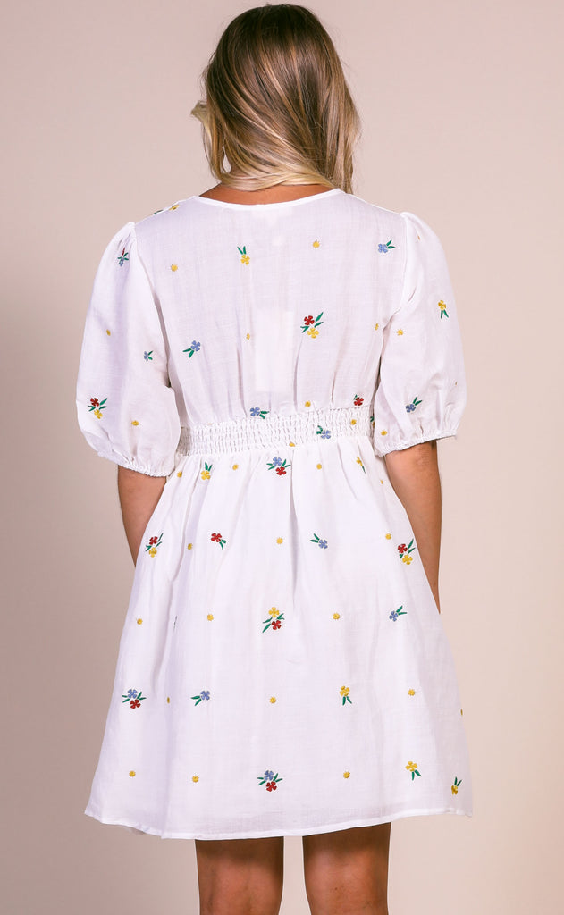floral affair embroidered dress