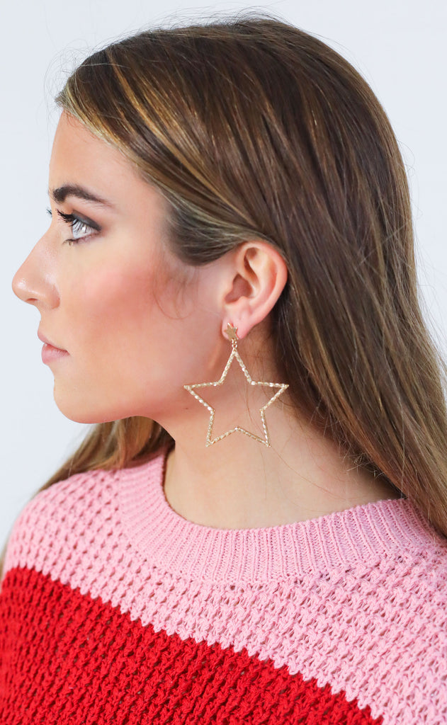 star cutout earrings