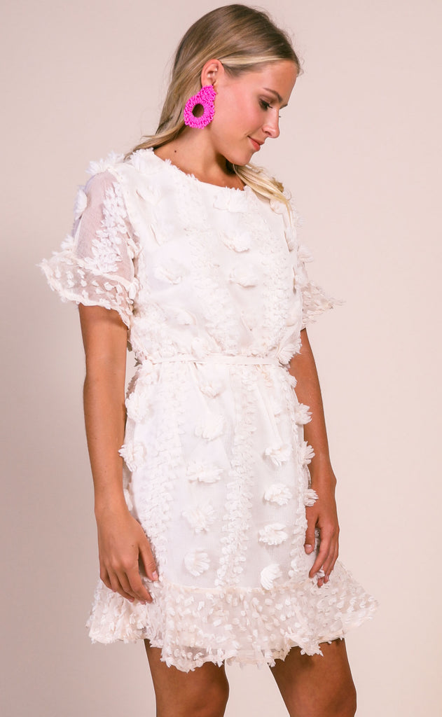 what about love mini dress - cream