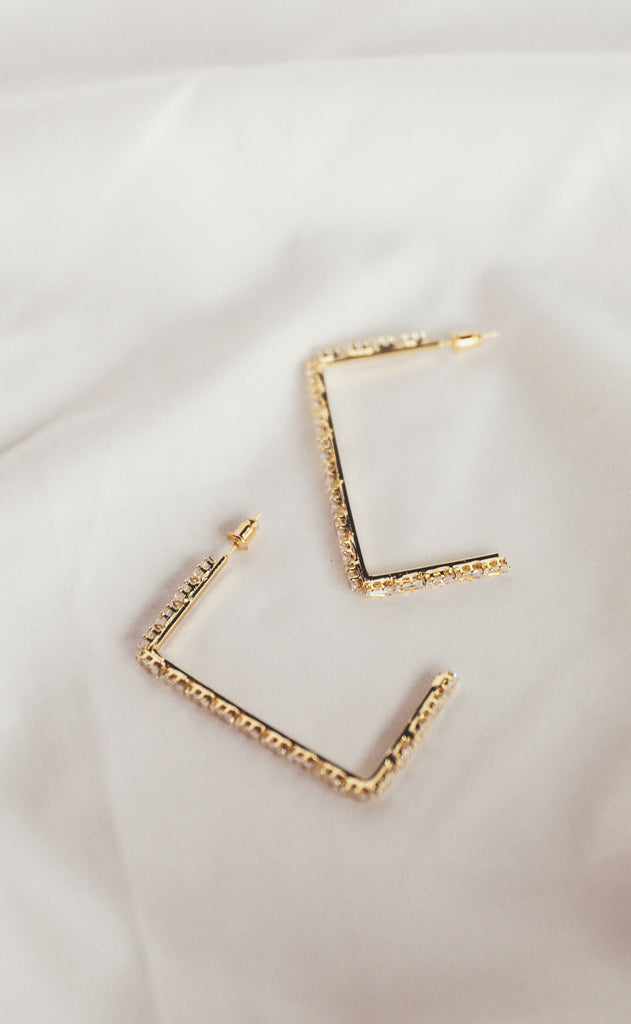 treasure jewelry: lucy rectangle earrings - small