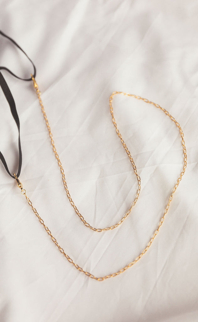 dainty paperclip mask chain