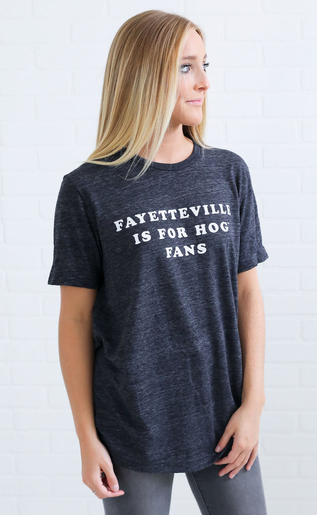 charlie southern: fayetteville is for hog fans t shirt