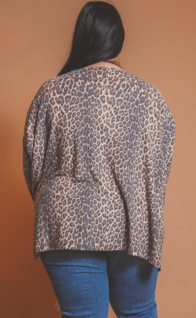 for the love of leopard basic top - extended