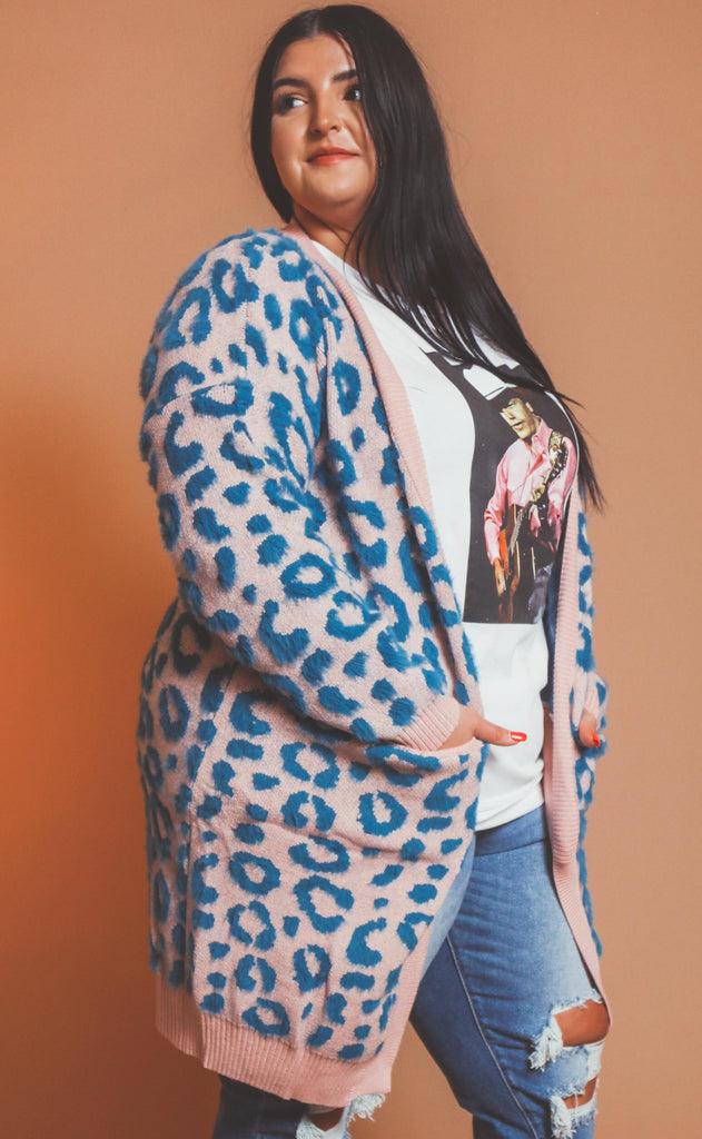 wild thing leopard cardigan - extended