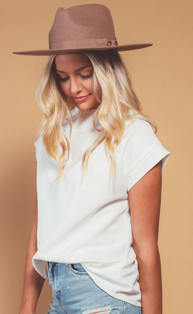 new york structured top - ivory