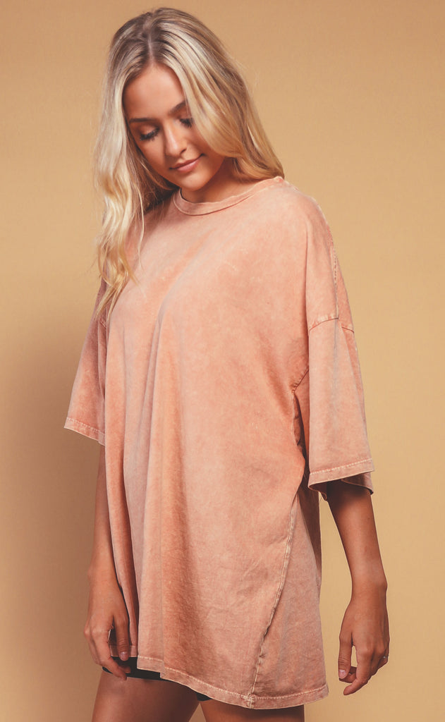 at ease tunic tee - peach