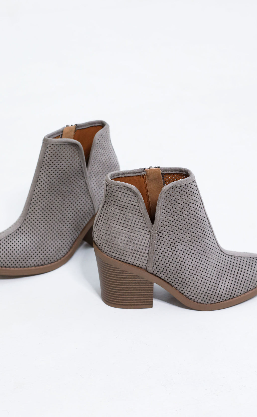 boot scoot perforated bootie - grey