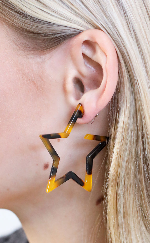 resin star earrings