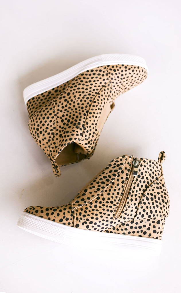 street chic sneaker wedges - cheetah